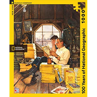 New York Puzzle Company - National Geographic 100 Years of National Geographic - 1000 Piece Jigsaw Puzzle: Toys & Games