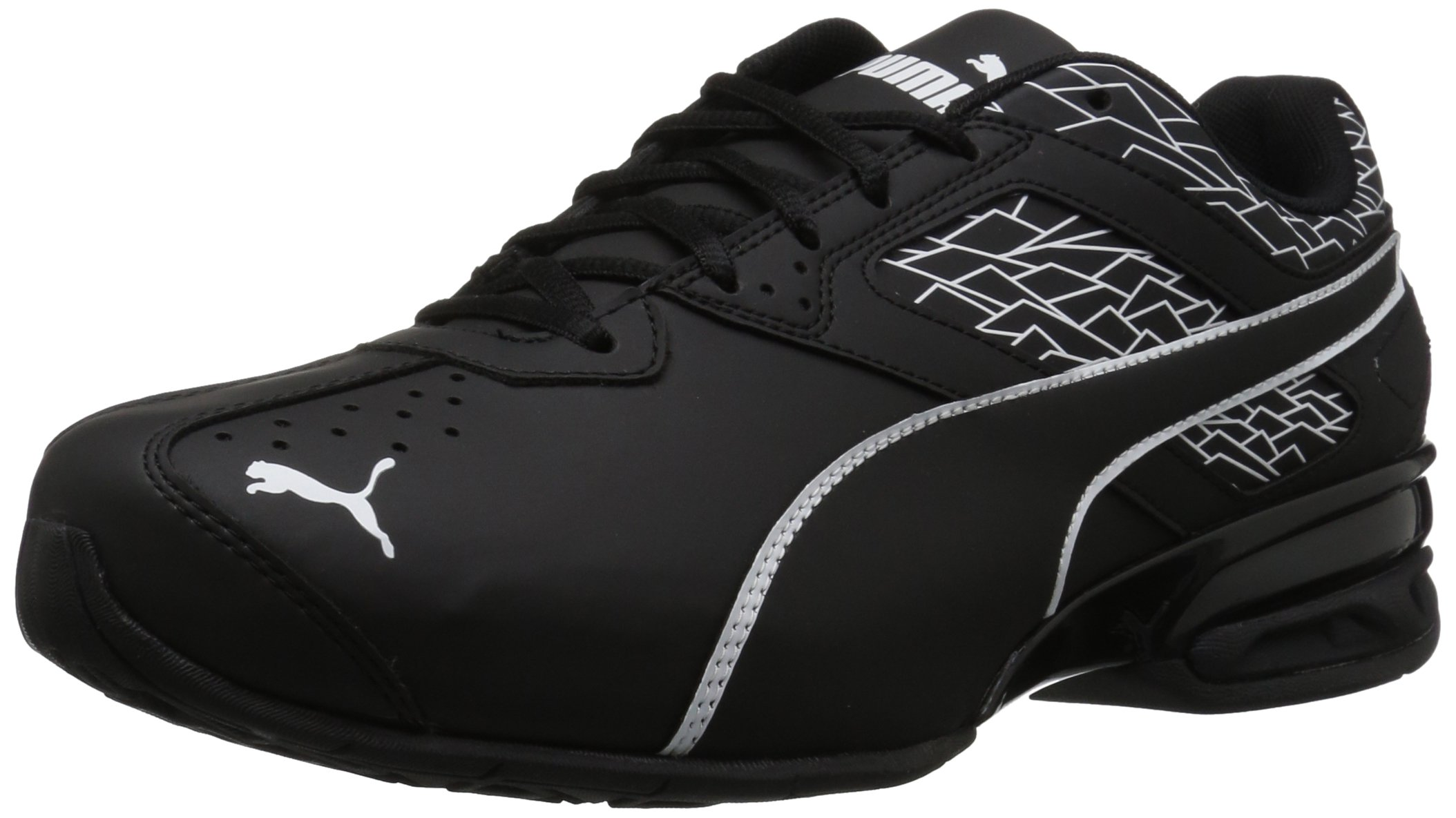 PUMA Men's Tazon 6 Wide Fracture FM Sneaker, Puma Black-Puma Black, 8.5 W US