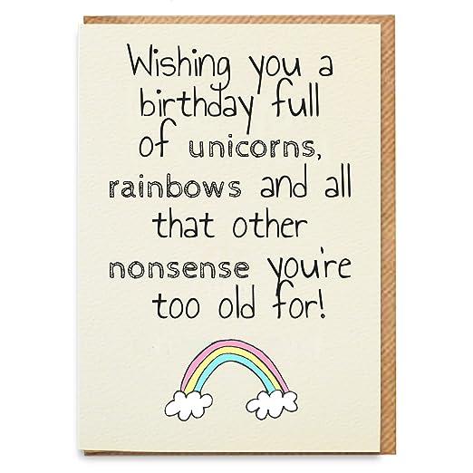 Tarjeta de cumpleaños de unicornio, divertida tarjeta de ...