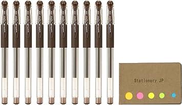brown Uni-Ball Signo UM-151 0.38 mm Roller Pen