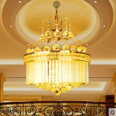 Luxury K9 Crystal Pendant Lamps Lights Golden Crystal ...