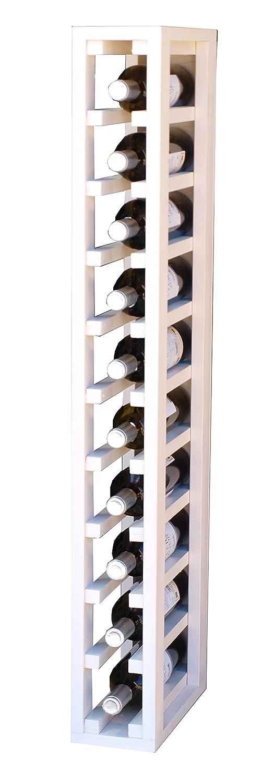 Expovinalia ew2031 Botellero Especial-Modulo para 10 Botellas, Madera, Blanco, 12x32x105 cm EXQXT