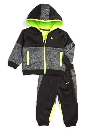 2a2e4ce08 Amazon.com   Nike Baby Boys` Therma-Fit Hoodie   Jogging Pants 2 ...