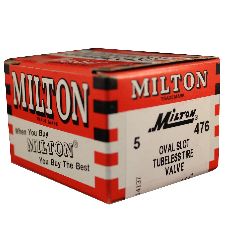 Milton 476 Oval Slot Tubeless Tire Valve - Box of 5
