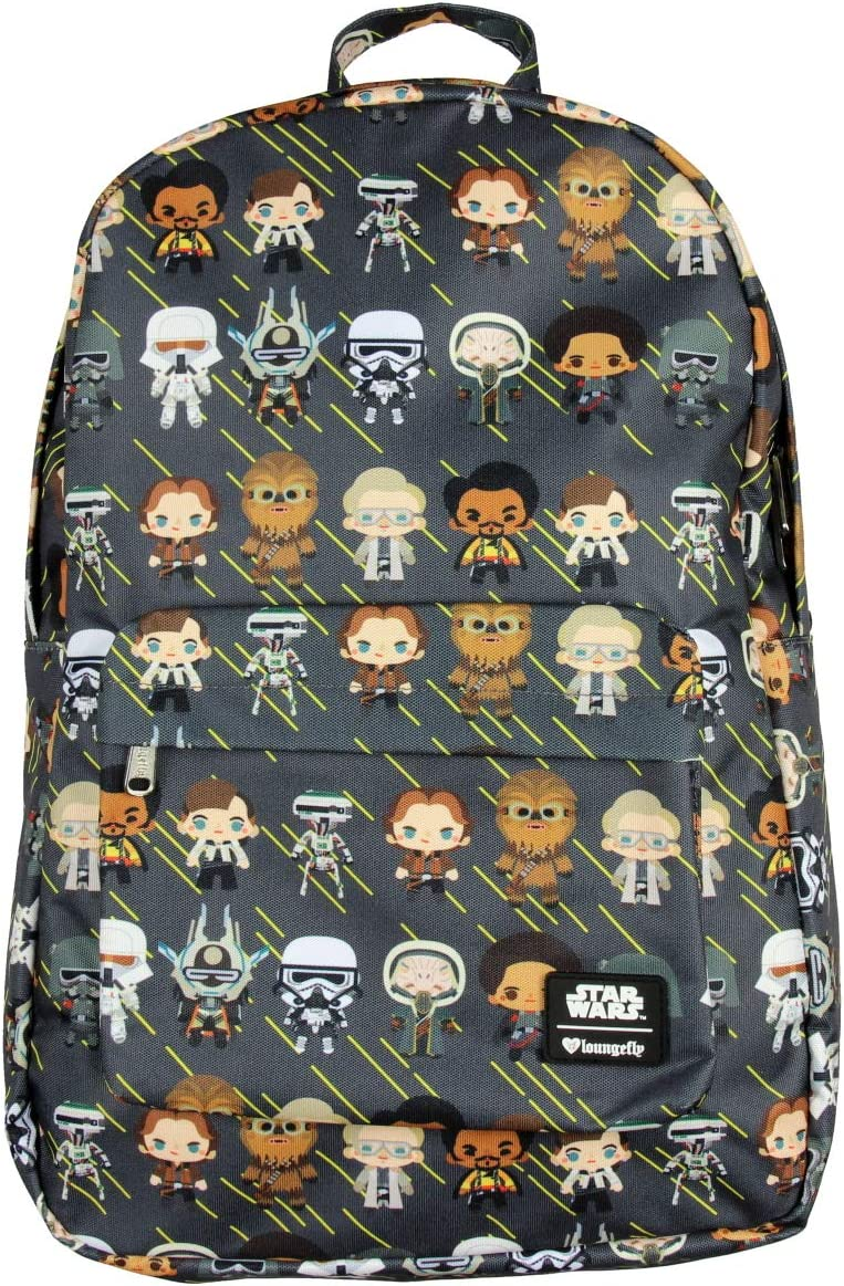 Loungefly x Star Wars Backpack Han Solo Chibi Characters All Over Print