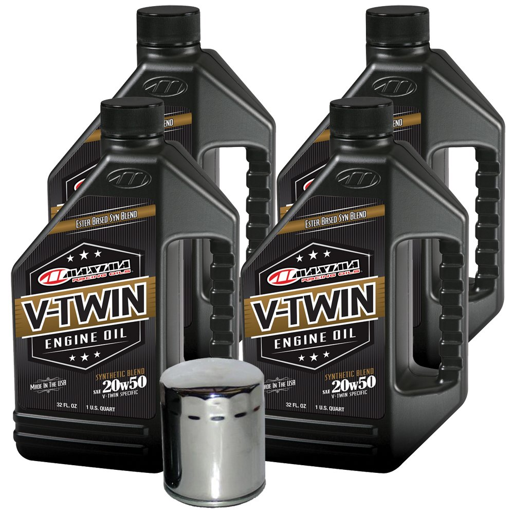 MaximaHiflofiltro VTEOCK20 Synthetic Blend Engine Oil Change Kit for Harley Davidson Sportster V-Twin