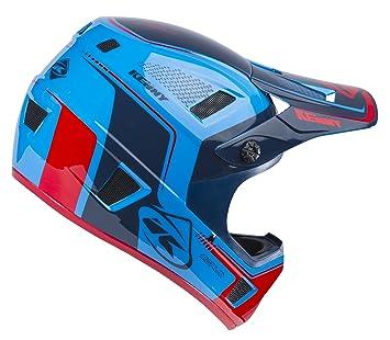 KENNY Scrub Casco Mixta, Color Azul/Rojo, tamaño S