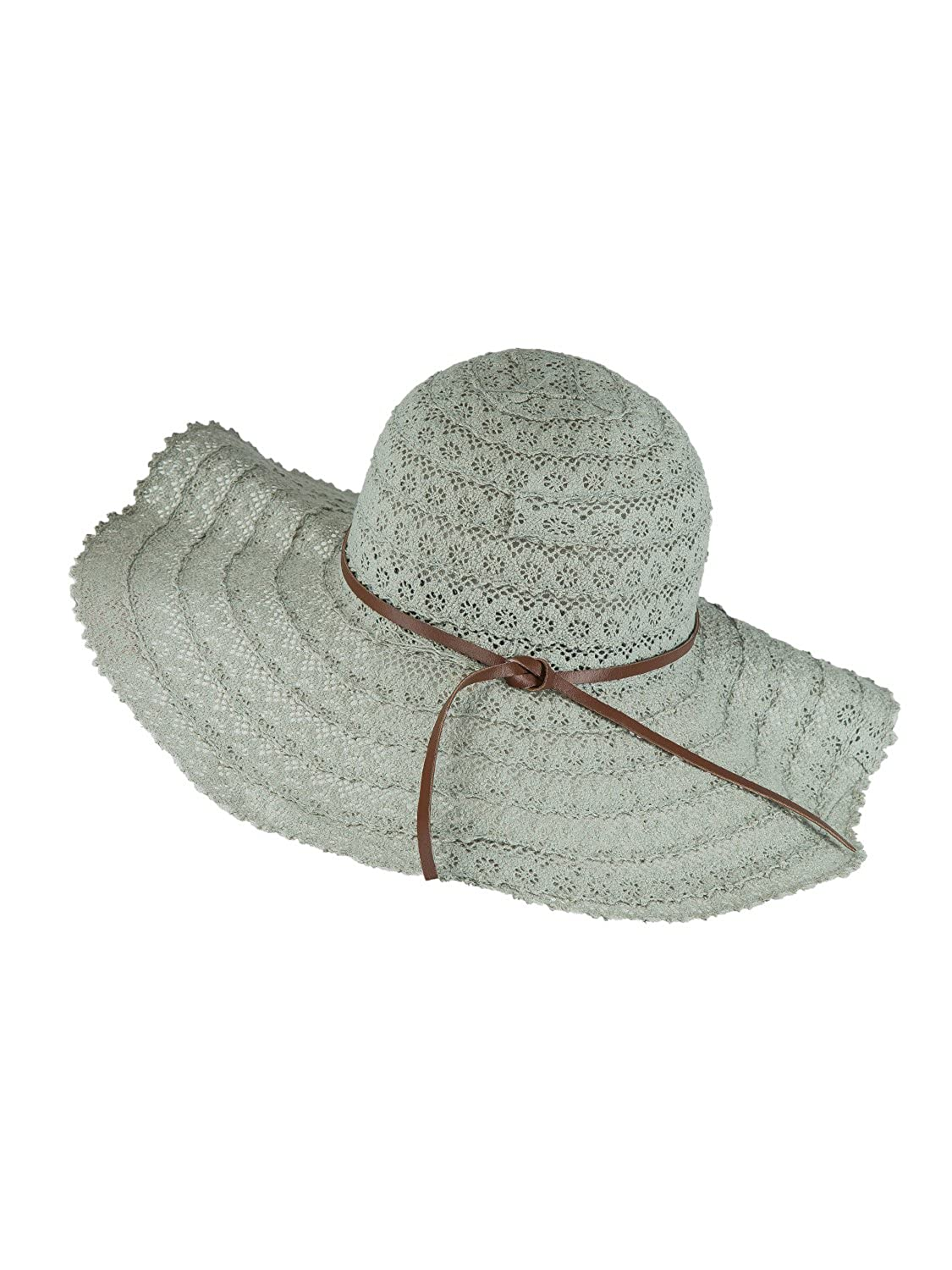 Grey PERSUN Straw Sun Hats Wide Brim Foldable Summer Travel Caps Uv Predection Bowknot Beach Hats