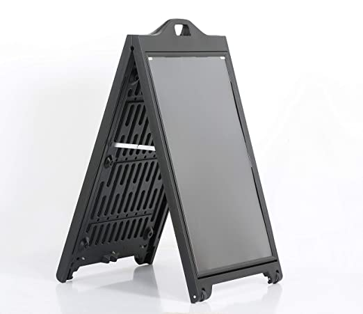 M & T displays Stop acera negro signpro - Puerta Cartel ...