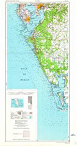 YellowMaps Tampa FL topo map, 1:250000 Scale, 2 X 1 Degree, Historical, 1960, Updated 1960, 37.8 x 19.7 in