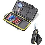 Beeway® メモリカードケース 9スロット コンパクト フラッシュ カード SD SDHC SDXC CF カードホルダー 防水 防塵 持ち運ぶ収納バッグ付