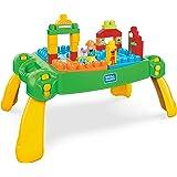 Mega Bloks FWF03 Sesame Street Build and Learn Neighborhood Play Table, Multicolor