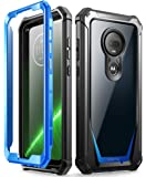 Poetic Moto G7 Rugged Clear Case, Full-Body Hybrid Shockproof Bumper Cover, Built-in-Screen Protector, Guardian Series…