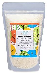 Best Oatmeal Honey Kids Bath - Natural Pacific Sea Salt - Comfy & Nourishing for The Skin - Tub Time Foaming Bath Salt Soak - All Natural