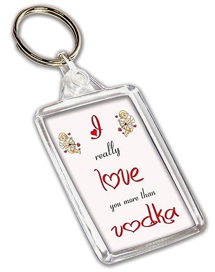 I Love Vodka con llavero - día de San Valentín/aniversario ...