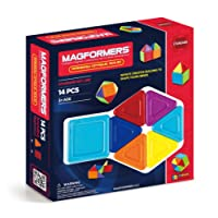 Magformers 65010 Standard Rainbow Opaque Solid Set (14-Pieces)