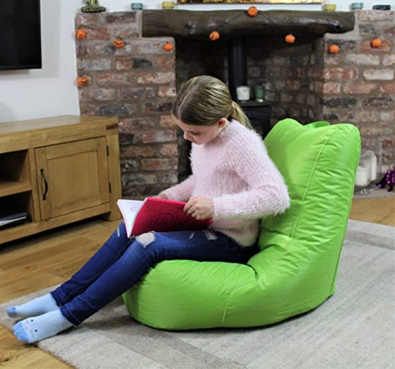 MaxiBean Puf para Interior o Exterior, cojín reclinable para jardín, Silla para niños, Color Verde Lima: Amazon.es: Juguetes y juegos