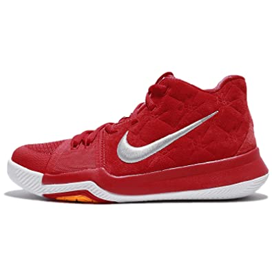 save off 97f7a 54a1d NIKE Kyrie 3 Grade School Basketball Shoe (6.5Y, University Red Wolf Grey