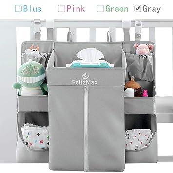 Crib for Newborn Baby Essentials Nursery Playard Diaper Caddy Hanging Organizer
