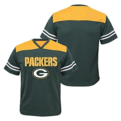 14f773d61 Green Bay Packers Green NFL Boys Youth Team Apparel V Neck Jersey (Large 12
