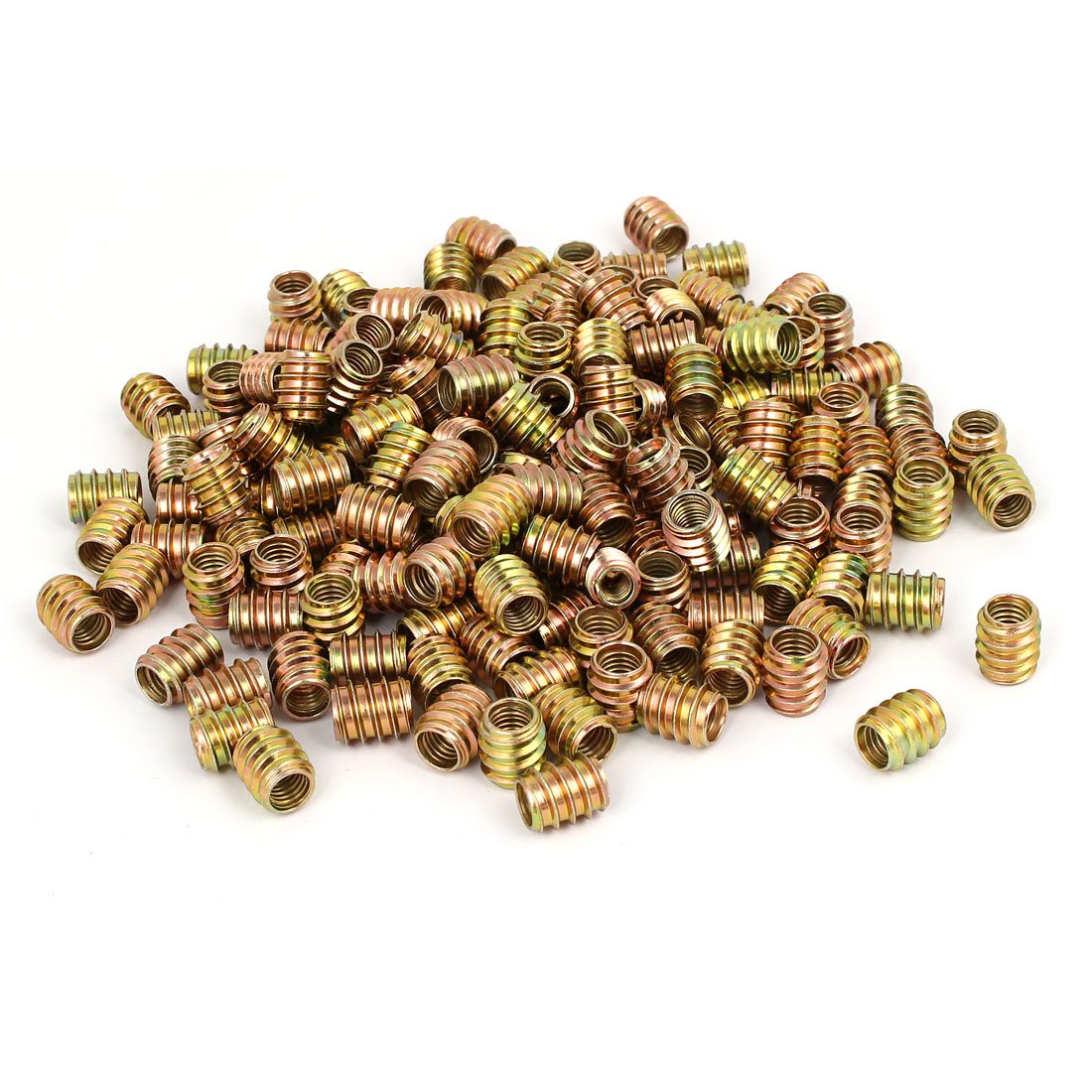 uxcell M8 x 15mm Wood Furniture Insert Screw E-Nut Bronze Tone 250pcs