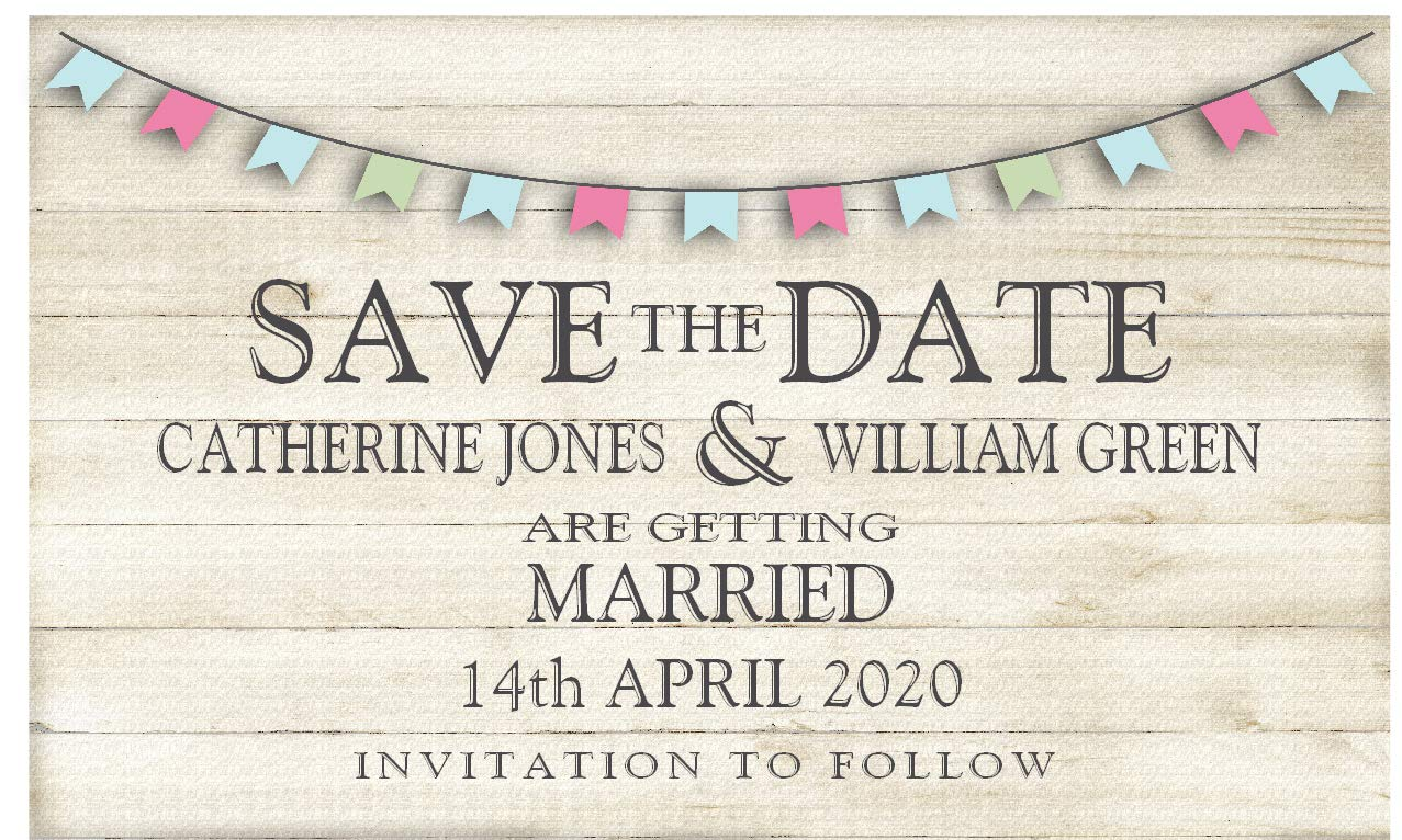 50 Save the Date Magnets - Personalised Wedding Magnets - Magnetic Save the Date Cards with Envelopes The Save the Date People