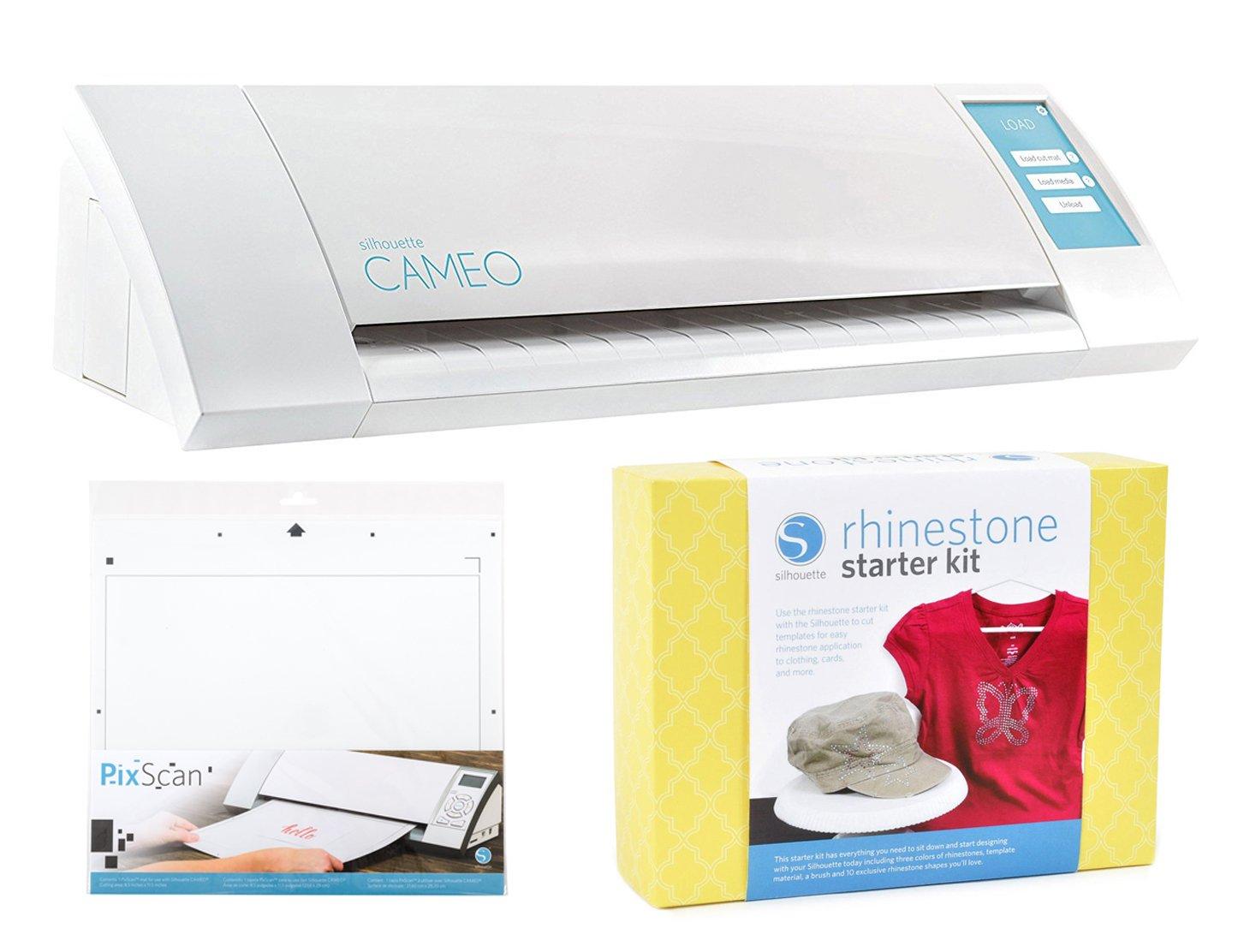 Silhouette Cameo Rhinestone Starter Kit Bundle with Pixscan Cutting Mat