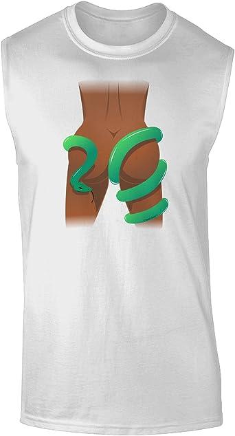 TooLoud Anaconda Design Green Muscle Shirt