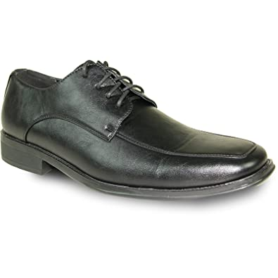 baab65785892 bravo! Men Dress Shoe Milano-2 Classic Oxford with Square Moc Toe and  Leather