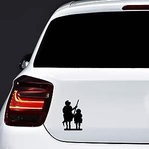 Autodomy Pegatinas Don Quijote Sancho Panza España Pack 2 Unidades para Coche o Moto (Negro): Amazon.es: Coche y moto