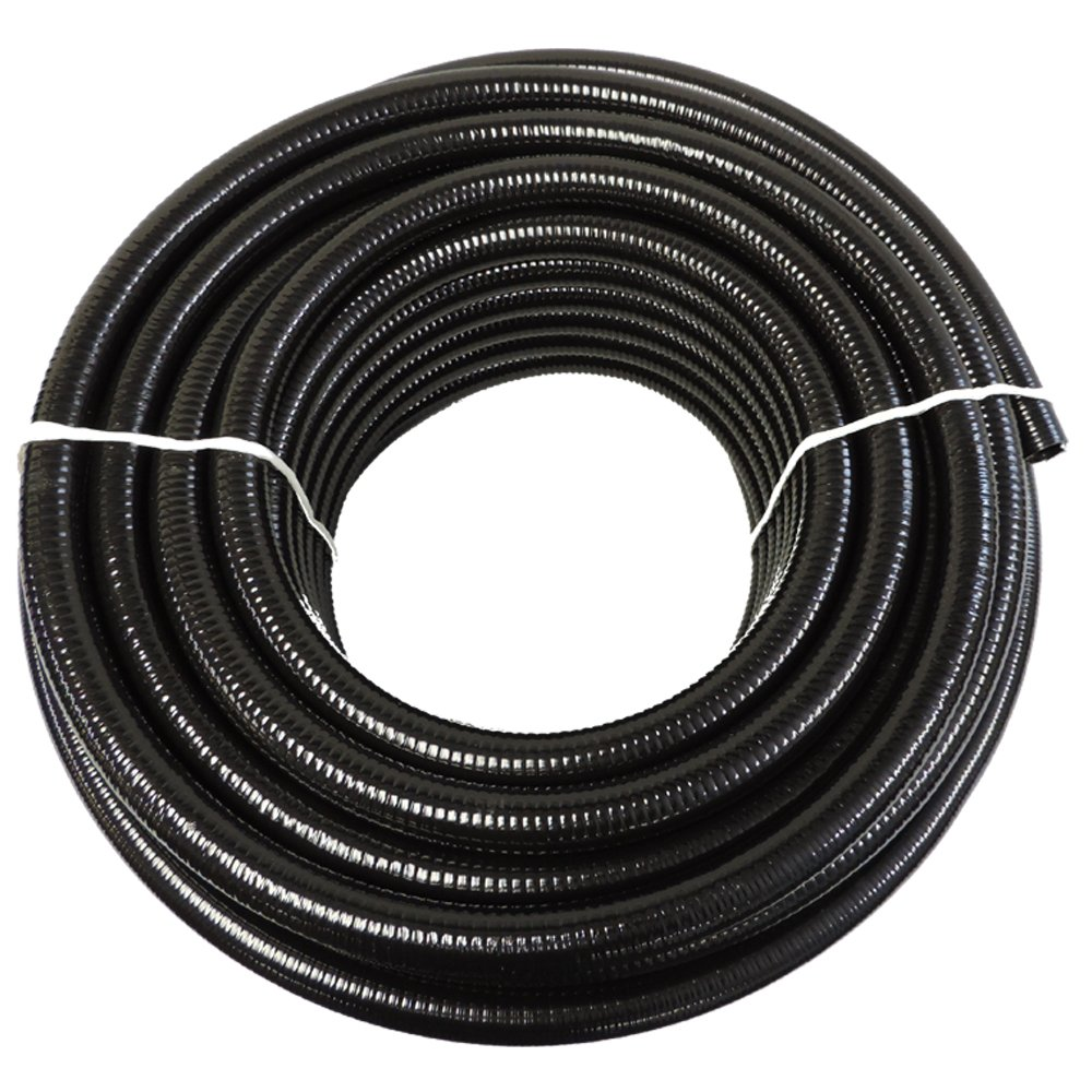 (1 1/4'' Dia. x 100 ft) - HydroMaxx Black Flexible PVC Pipe for Koi Ponds, Irrigation and Water Gardens