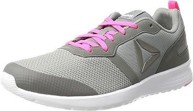 Reebok Bs6907, Zapatillas de Running para Mujer, Gris (Flat Grey/Medium Grey/Poison Pink/White), 35 EU: Amazon.es: Zapatos y complementos