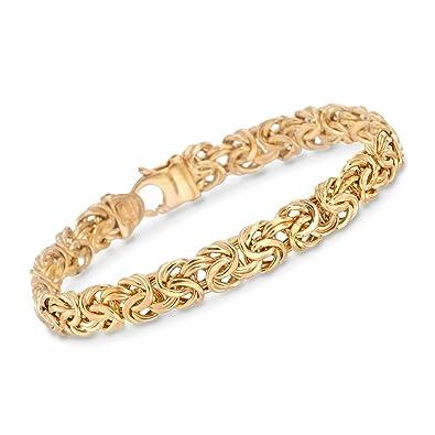 0b80633b43f27 Ross-Simons Certified Italian 14kt Yellow Gold Byzantine Bracelet
