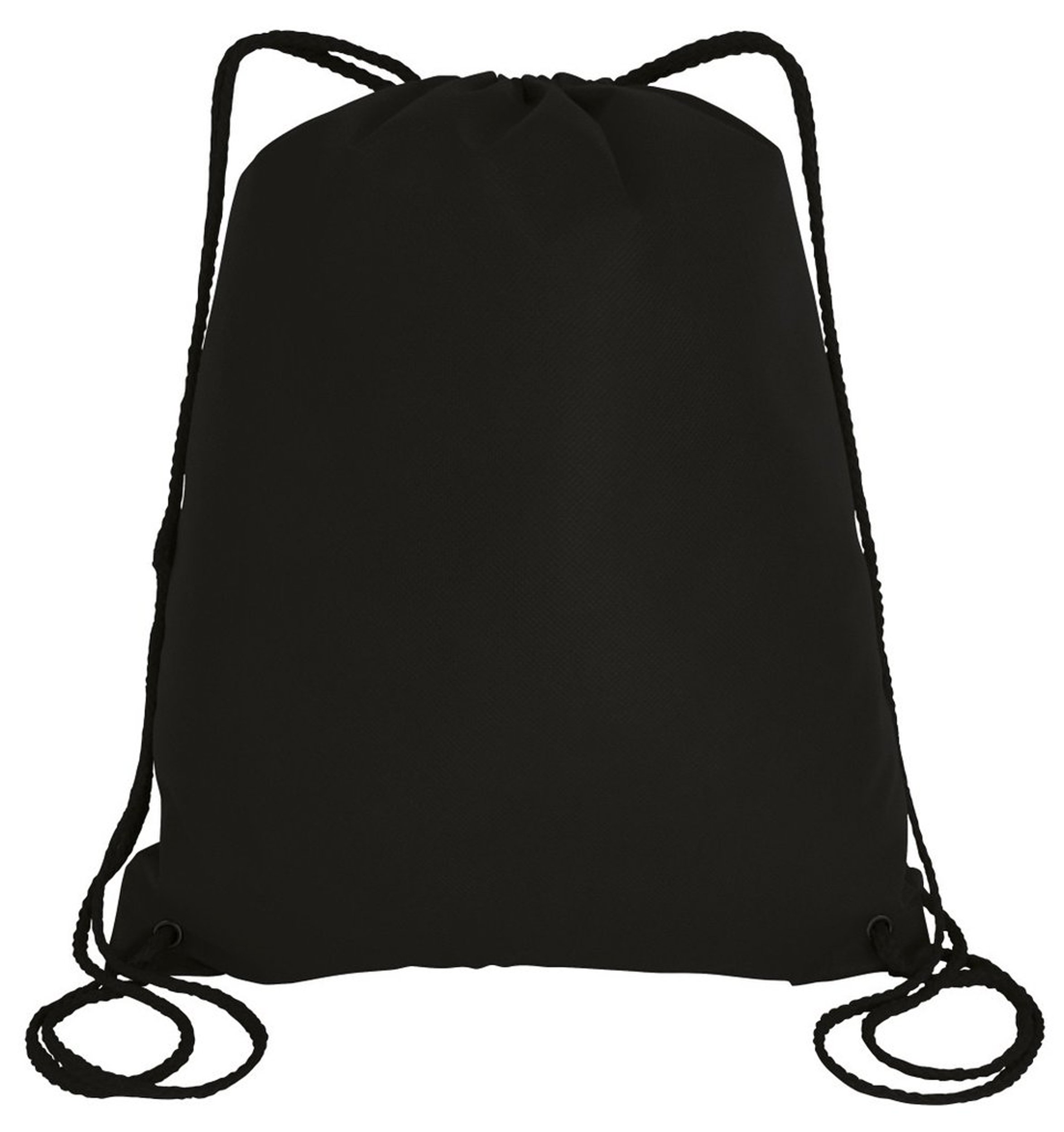 100 PACK - Large Size Multipurpose Non Woven Well Made Drawstring Backpack Bags BULK - Giveaway Church Bags School Bags Event Show bags Donation Wholesale Cheap Drawstring Backpacks (Black)