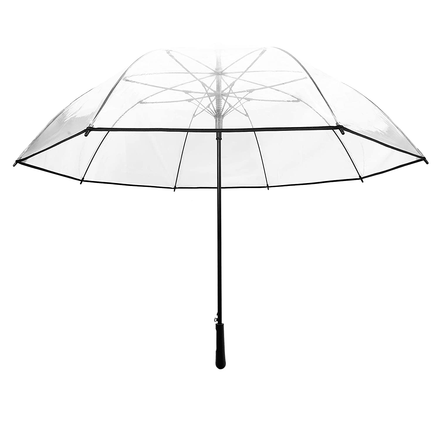 Resistant to Wind Black Wedding Black Border SMATI Stick Extra Large Clear Umbrella