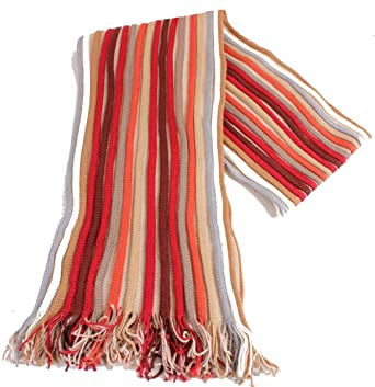 78b03a061a1e0 Image Unavailable. Image not available for. Color: Bassin and Brown Mens  King Striped Scarf - Red/Beige/Wine