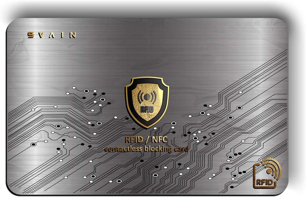 Protección Tarjeta De Crédito Contactless - Protector De Tarjeta De Crédito con Blindaje RFID Y NFC - Protección De Documentos De Identidad - ...