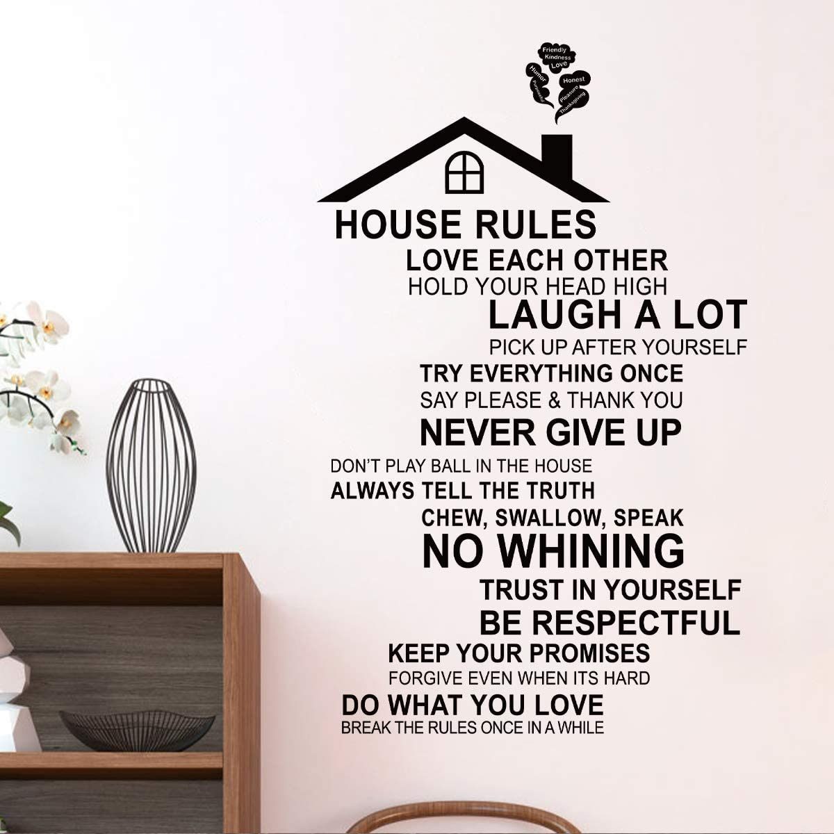 Wall Stickers Removable Family Makes House Home Room Decal Picture Art Decor