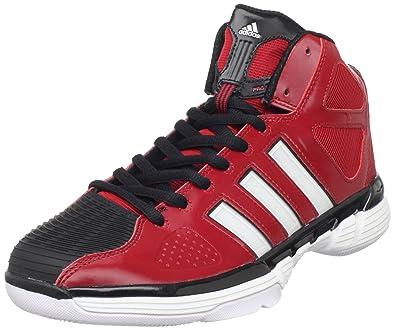 reputable site 2ab01 15f29 adidas Men s Pro Model Zero Basketball Shoe,University Red Running White  Black,