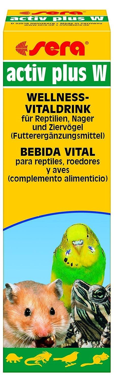 Sera 9882 activ Plus W 50 ml - Wellness Vitaldrink Futterergänzungsmittel Bei Futterverweigerung Zum Apetit anregen für Reptilien, Nager und Ziervögel Nager und Ziervögel 43238