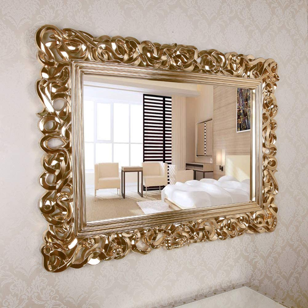 Large Rectangular Decorative Wall Mirror Antique Gold Ornate Baroque Frame Mirror Esed In The Living Room Bedroom Hotel Hand Carved 37 7inch 50inch Amazon Ca Home Kitchen