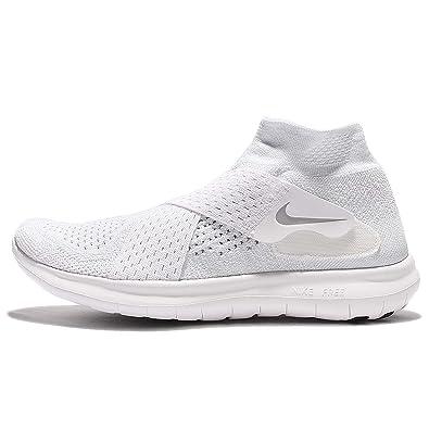 Nike Damen W Free RN Motion FK 2017 Traillaufschuhe, Weiß (White/Wolf Grey/Pure Platinum/Volt 100), 38 EU