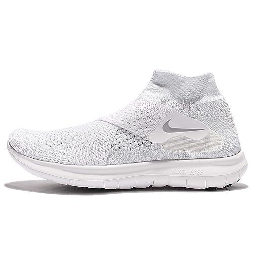 Nike Free RN 2017, Scarpe da Trail Running Uomo, Bianco (White/White/Black/Pure Platinum 100), 38.5 EU