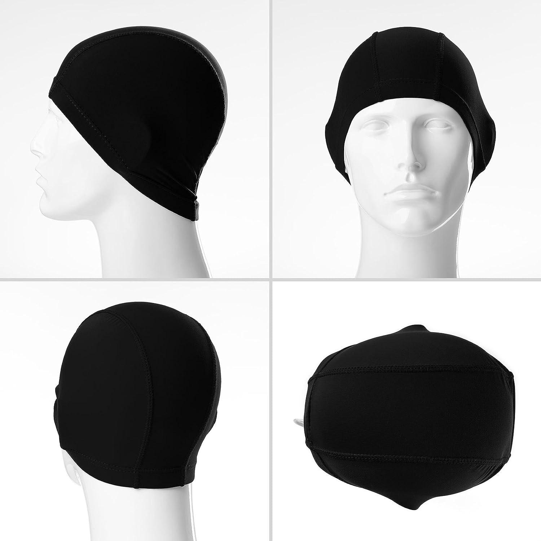 Gorro de natación »Guppy«   Unisex y hecho de material elástico   Se adapta  perfectamente a la forma de la cabeza   negro  Amazon.es  Deportes y aire  libre 36d212936bb