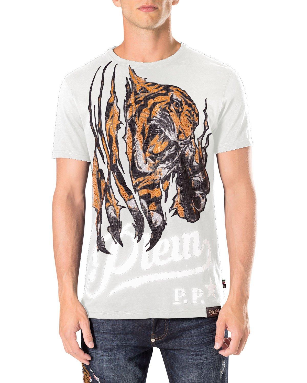 PHILIPP PLEIN Men's T-shirt immediate - white, M