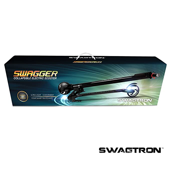 SWAGTRON Swagger High Speed Adult Electric Scooter; Ultra-Lightweight Carbon Fiber; Easy Fold-n-Carry Design