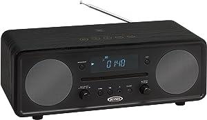 JENSEN JBS-600 Bluetooth Digital Music System with CD Player,Black