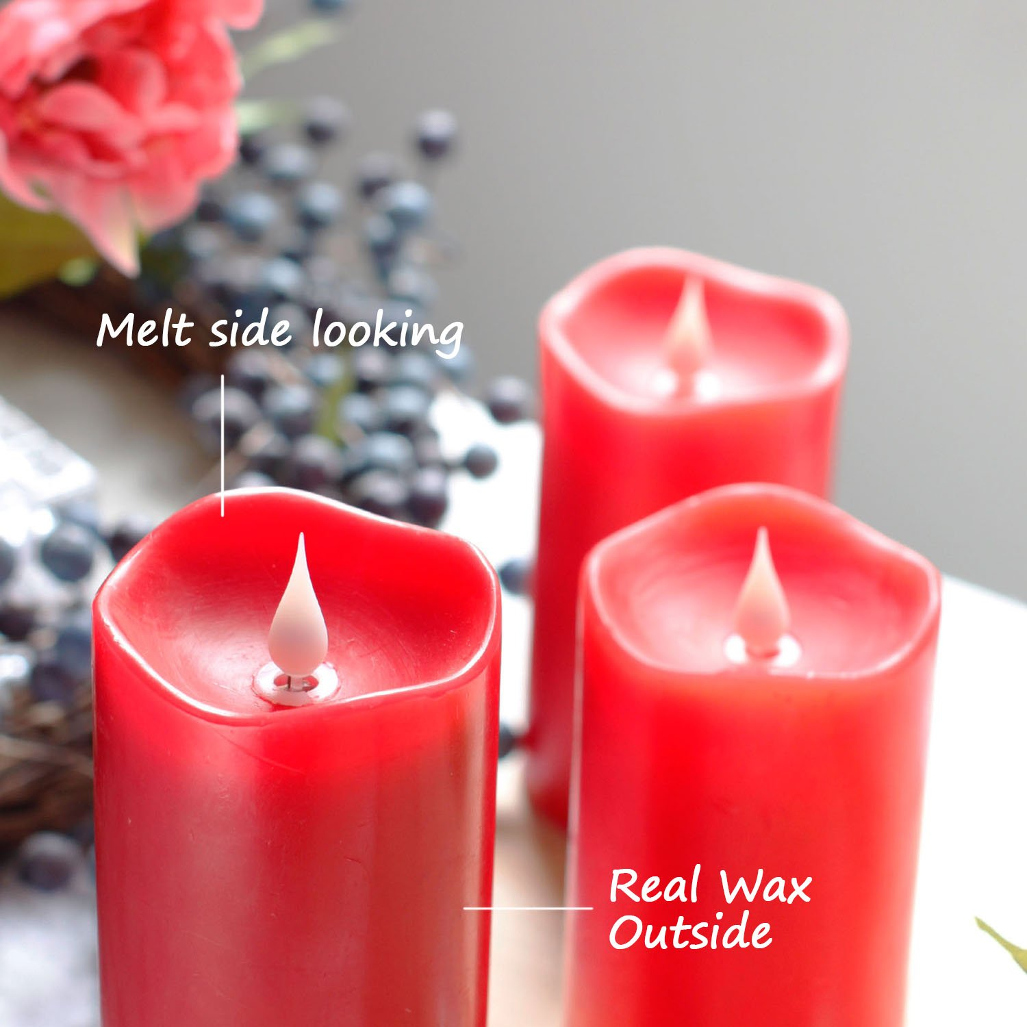 Amazon Remote Control 3D Moving Flame Led Candle with Timer