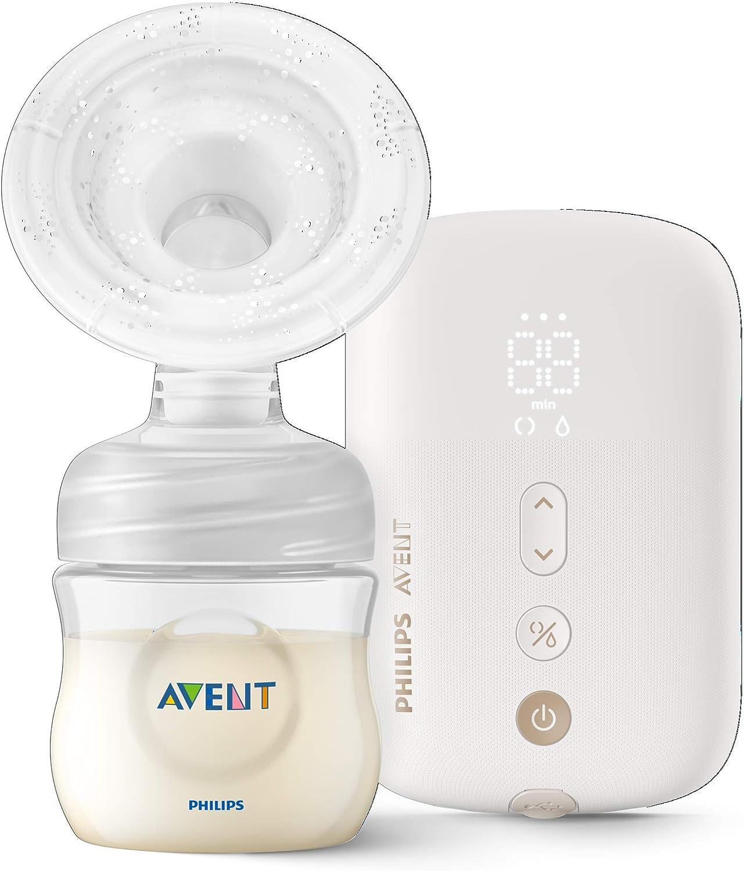 Philips Avent SCF396//11 Tire-lait /électrique simple silencieux avec coussin de massage biberon naturel 125 ml inclus Blanc 8 r/églages de stimulation et 16 extractions
