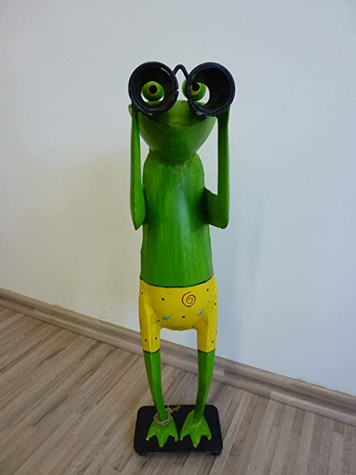 Frosch Kanu Zaungucker Exner Fernglas Spanner Figur Metall 130 cm 211856